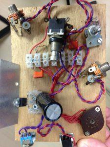 Aspecto do circuito montado de forma experimental para ser mostrado em aula