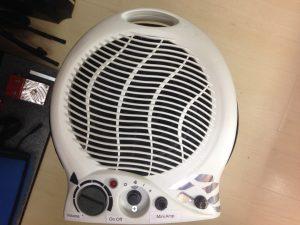 Amplificador push pull instalado em aquecedor de ar