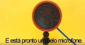 Microfone de eletreto caseiro